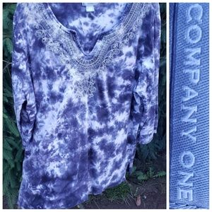 Company One Tie Dye Oversized Comfy Casual Top